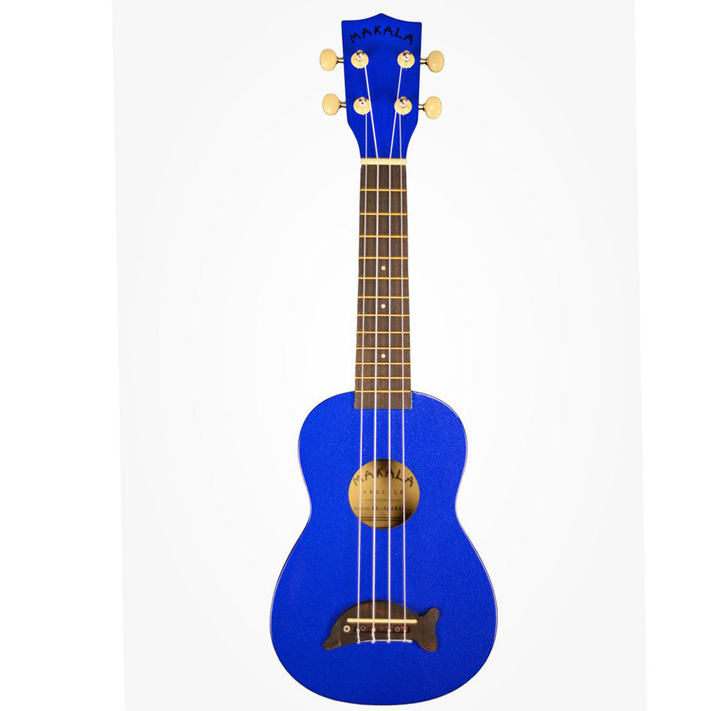-Misc. Stuff-Kala Makala Dolphin Soprano Ukulele - Metallic Blue-Kala-Seaside Surf Shop