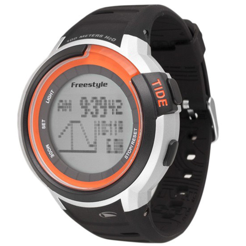 -Watches-Freestyle Marine Tide - Black/Silver/Orange-Freestyle-Seaside Surf Shop