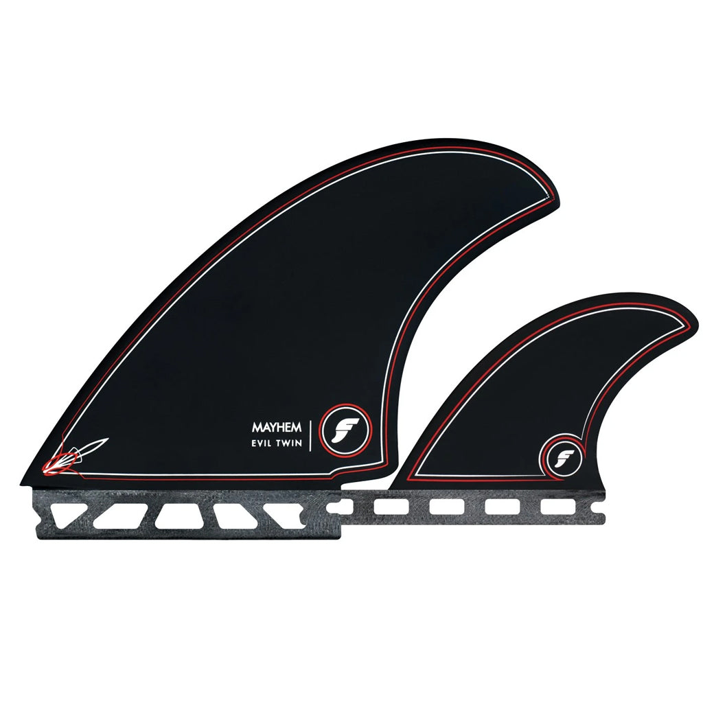 Futures Fins Mayhem Evil Twin + 1- Black - Seaside Surf Shop