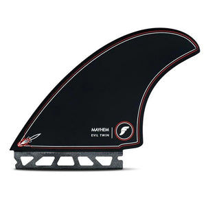 Futures Fins Mayhem Evil Twin + 1- Black