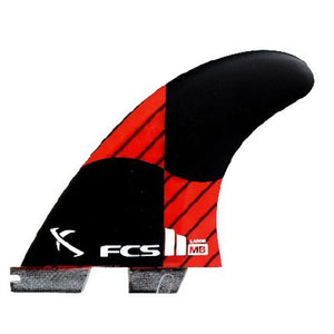 FCS II MB PC Carbon Large Tri Set - Rocket Red-FCS-Seaside Surf Shop
