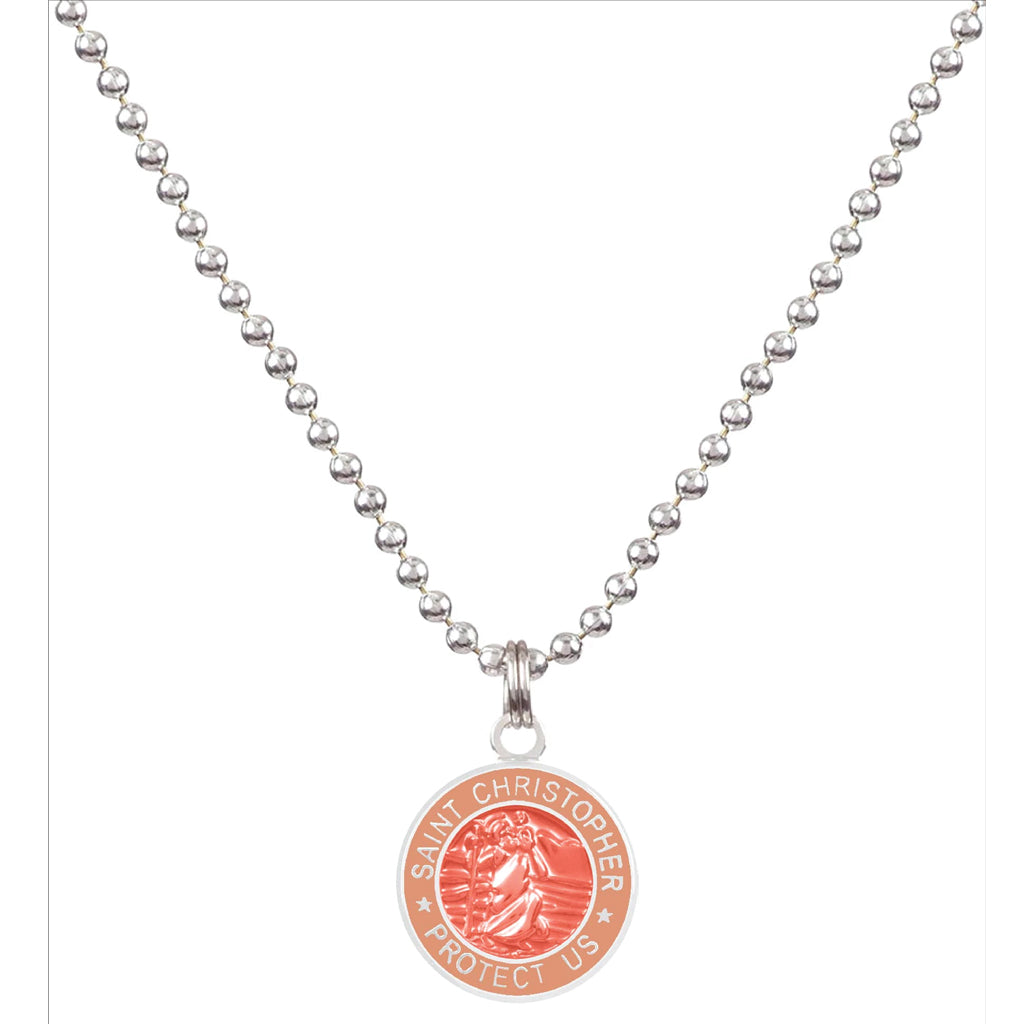 Saint Christopher Small Medal - Melon/Blush - Seaside Surf Shop