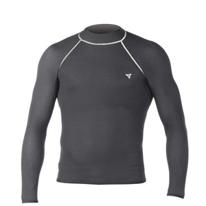 Xcel Drylock Mens Smart Fiber L/S Base Layer, Wetsuit Accessories, Xcel Wetsuits, Long Sleeve Rashguards, Mens Rashguards, For use as a base layer, Xcels Drylock Smart Fiber Long Sleeve provides unparrareled warmth, improved blood circulation, maintains core warmth, and boost oxygen levels which increase endurance and recovery..