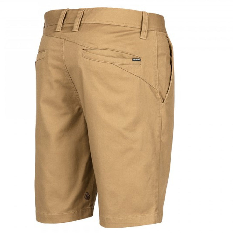 Volcom Mens Frickin Mod Stretch Shorts - Dark Khaki, Swimwear, Volcom, Mens Walkshorts, Cool and casual come together in the 20-inch Frickin Mod Stretch Shorts. This is chino simplicity at its finest.Features:Modern fitMade with Repreve® Recycled PolyesterBack welt pocketsBelt loops20-inch