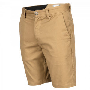 Volcom Mens Frickin Mod Stretch Shorts - Dark Khaki-Volcom-Seaside Surf Shop