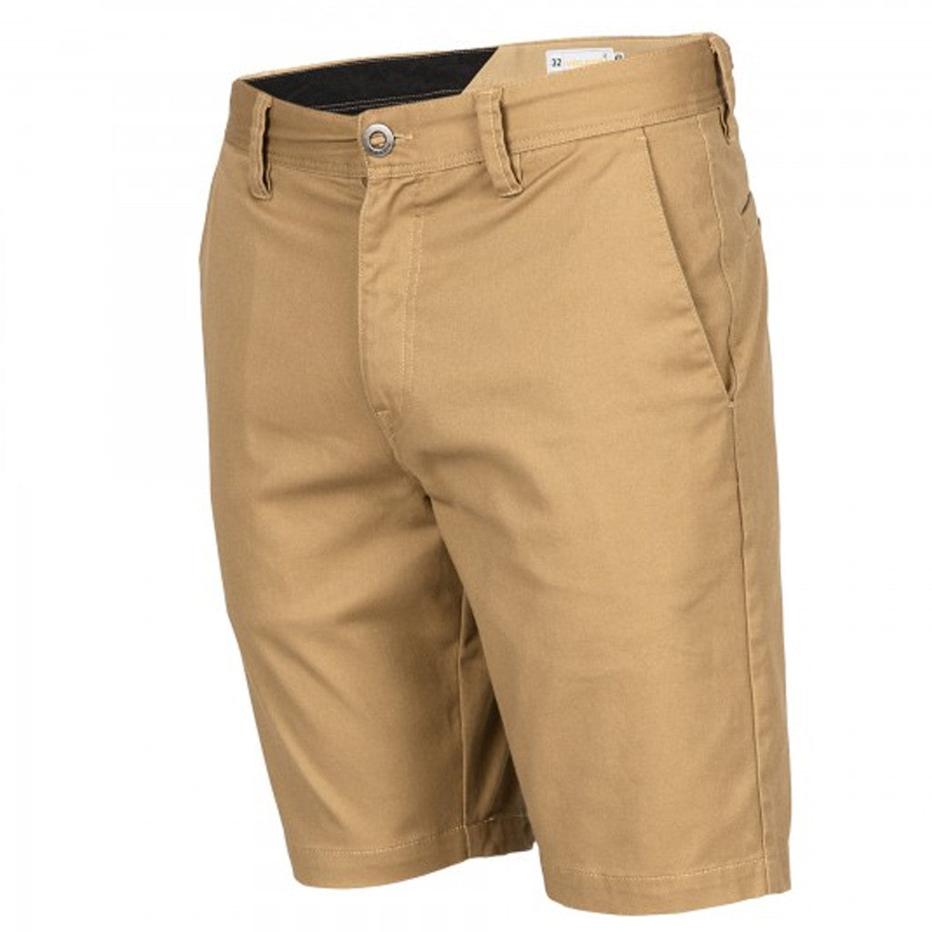 -Swimwear-Volcom Mens Frickin Mod Stretch Shorts - Dark Khaki-Volcom-Seaside Surf Shop