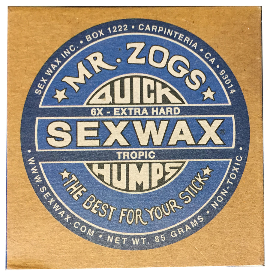 Sex Wax 6x Tropical/Basecoat, Surf Accessories, Zogs Sex Wax, Zogs Sex Wax, Our water is too cold for this wax but sometimes you need to get out of here and head south...then youre going to have to pack some of this for the trip.