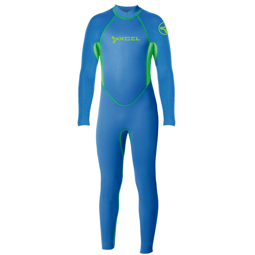 Xcel Toddler 3mm Fullsuit Wetsuit - Nautical Blue/Green