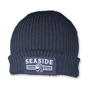 Seaside Surf Shop Longshoreman Logo Beanie - Navy-Seaside Surf Shop-Seaside Surf Shop