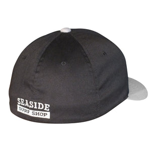 Seaside Surf Shop New Wave Logo Flexfit Cap - Black/Silver