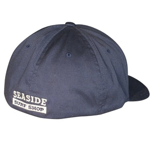 Seaside Surf Shop New Wave Logo Flexfit Cap - Navy