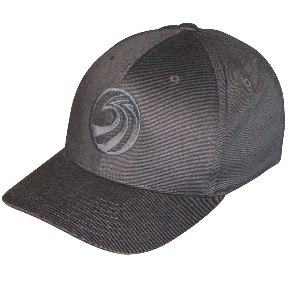 Seaside Surf Shop New Wave Logo Flexfit Cap - Black - Seaside Surf Shop