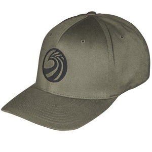 Seaside Surf Shop New Wave Logo Flexfit Cap - Olive