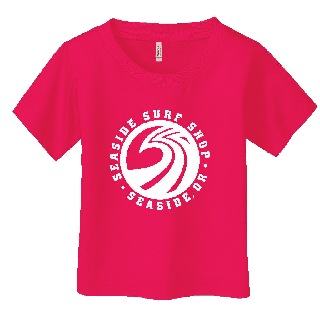 -Seaside Surf Apparel-Seaside Surf Shop Youth New Wave Tee - Fuschia-Seaside Surf Shop-Seaside Surf Shop