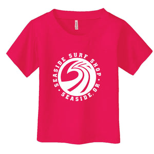 '-Seaside Surf Apparel-Seaside Surf Shop Youth New Wave Tee - Fuschia-Seaside Surf Shop-Seaside Surf Shop