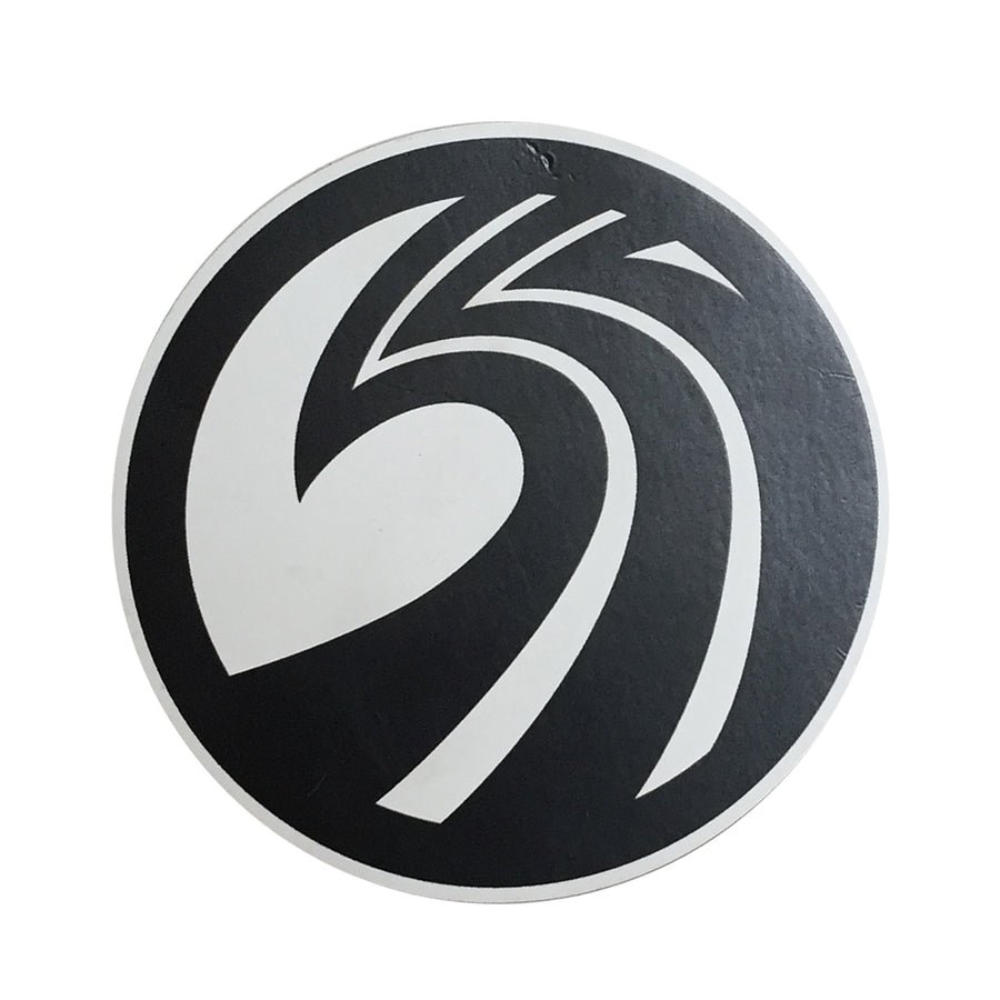 Seaside Surf Shop - New Wave Logo Magnet - Black/White, Seaside Surf Accessories, Seaside Surf Shop, Seaside Surf Shop, New Wave Logo Magnet. Measures approx 3(h) x 3(w).