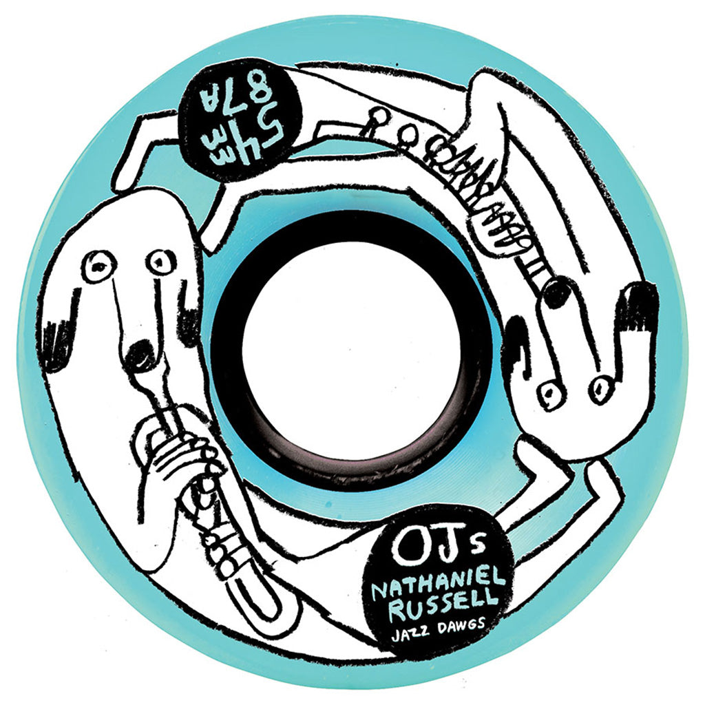 OJ 54mm Nathaniel Russel Jazz Dawgs Keyframe 87a Wheels - Seaside Surf Shop