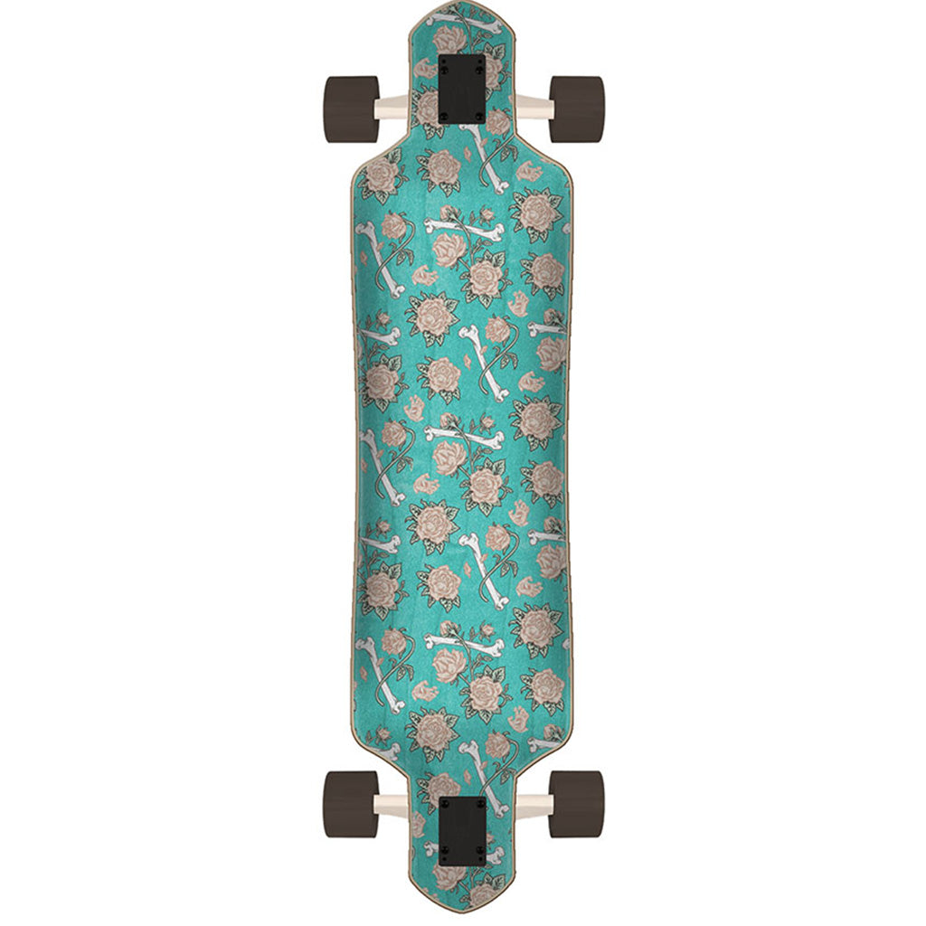 "Santa Cruz Screaming Hand Stack Cruzer Drop Thru Skateboard  9.0"" x 36"" - Seaside Surf Shop"