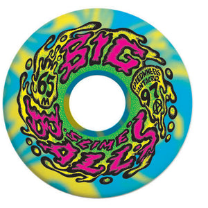 OG Slimeballs 65mm 97a Big Balls Skateboard Wheels - Blue/Yellow Swirl
