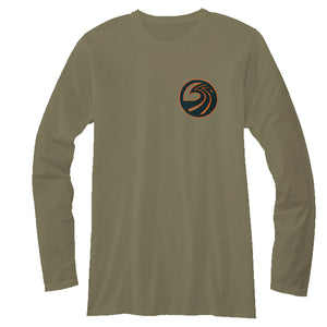 Seaside Surf Shop Mens Northwest L/S Tee - Military Green