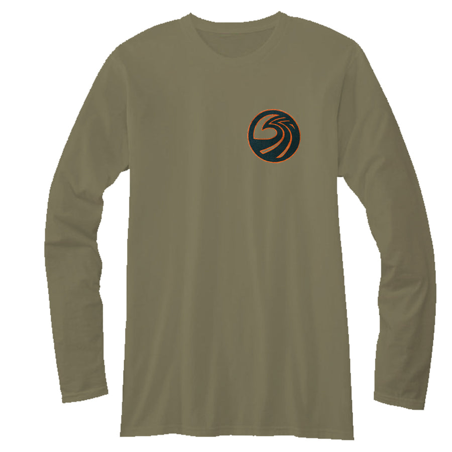 Seaside Surf Shop Mens Northwest L/S Tee - Military Green-Seaside Surf Shop-Seaside Surf Shop