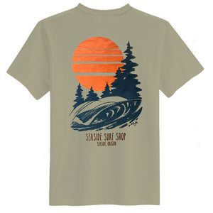 Seaside Surf Shop Mens Northwest Tee - Walnut, Apparel, Seaside Surf Shop, Mens Tees, Seaside Surf Shop Mens Northwest Tee - Walnut - Ringspun cotton tee.