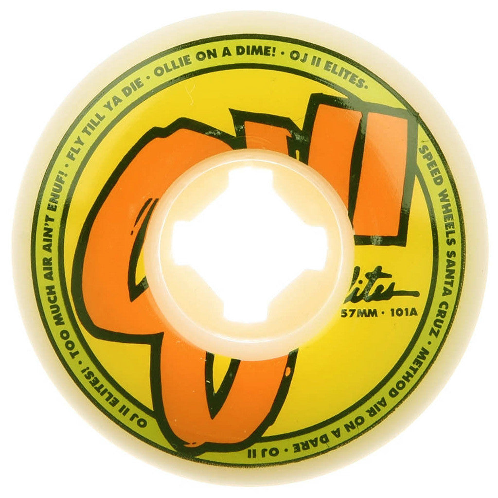 -Skate-OJ 60mm Elites EZ Edge 101a Wheels - White-OJ Wheels-Seaside Surf Shop