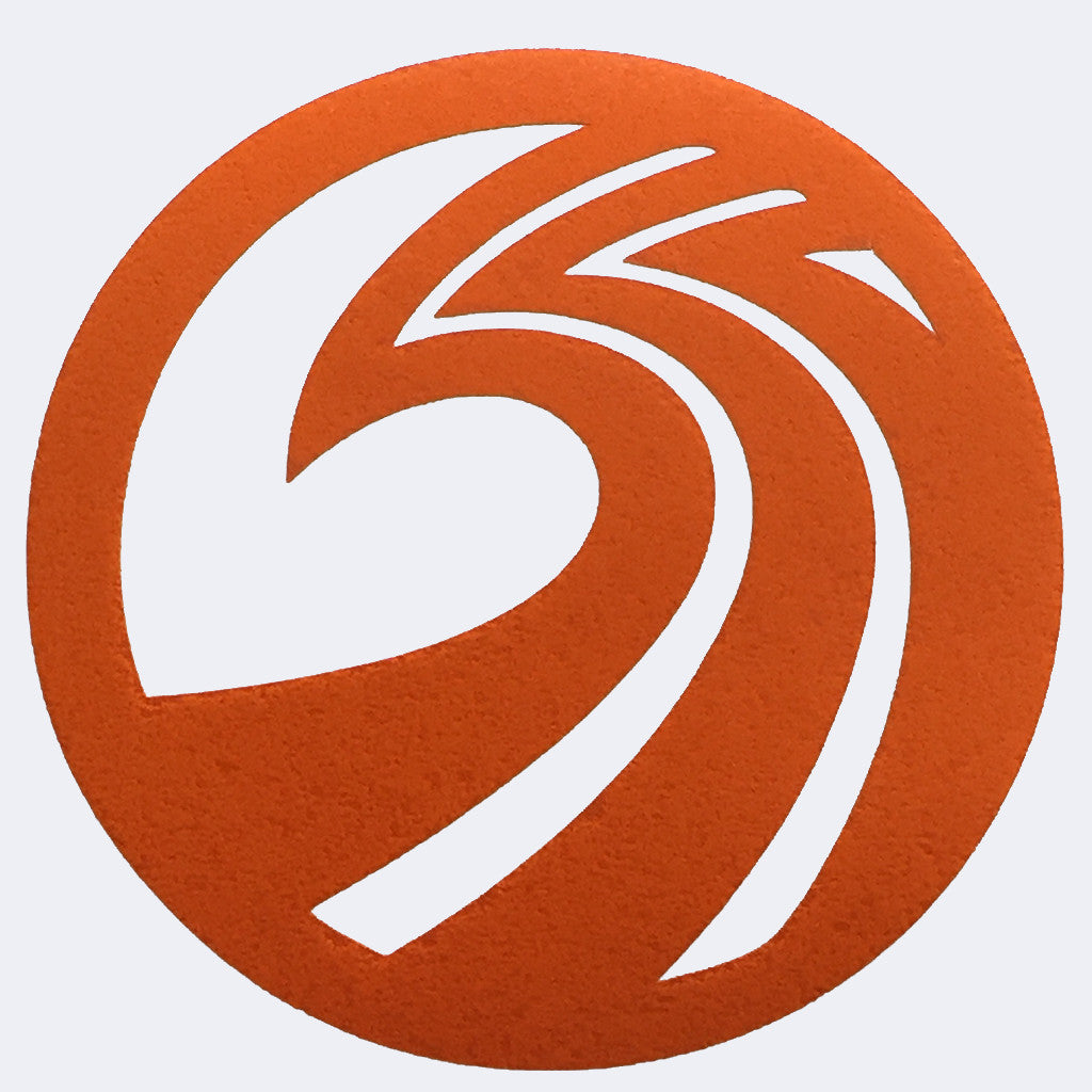 "Seaside Surf Shop - New Wave Logo Sticker - 5"" Orange"