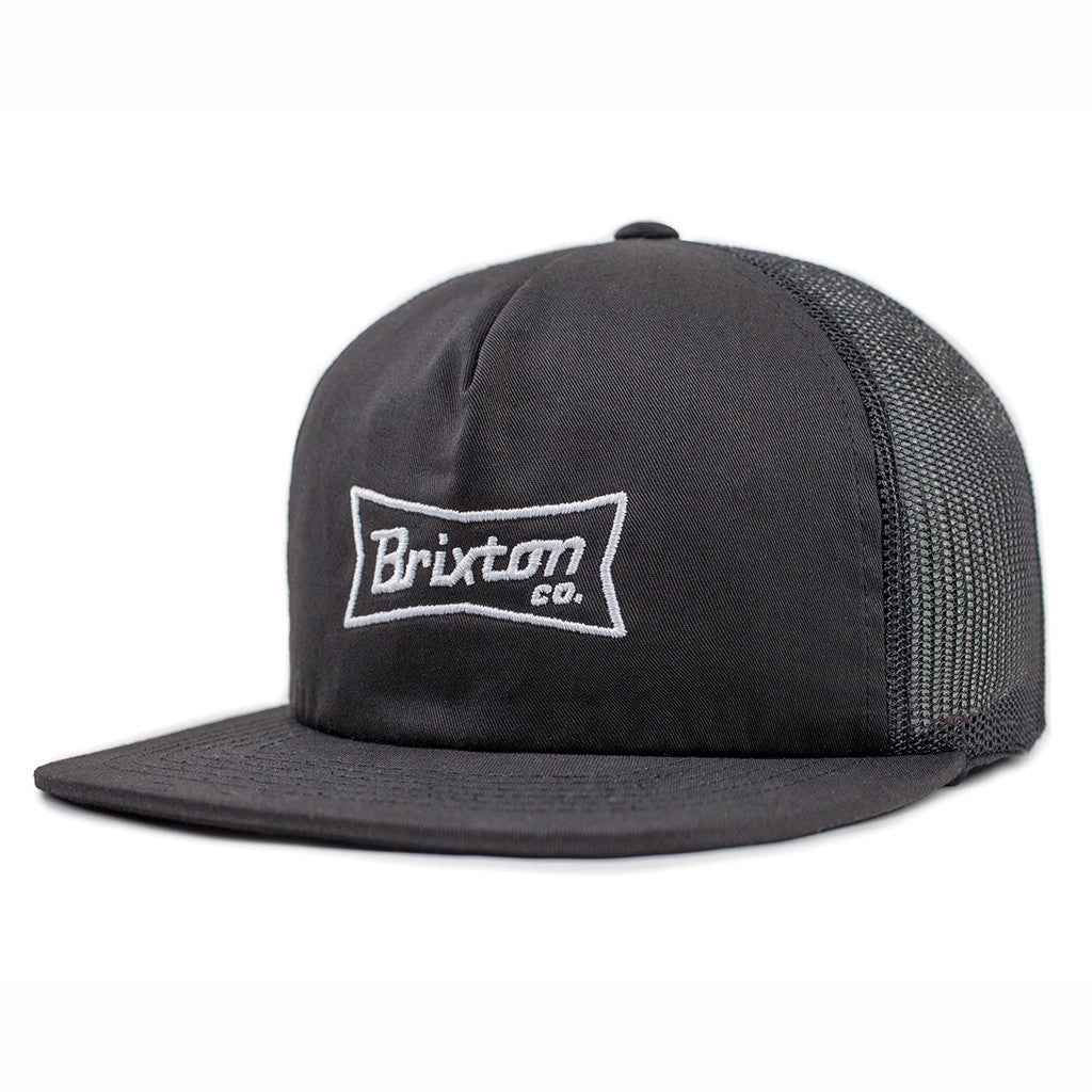 -Apparel Accessories-Brixton Pearson Mesh Cap - Black-Brixton-Seaside Surf Shop