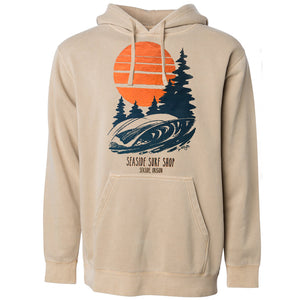 Seaside Surf Shop Mens Northwest Pullover - Sandstone