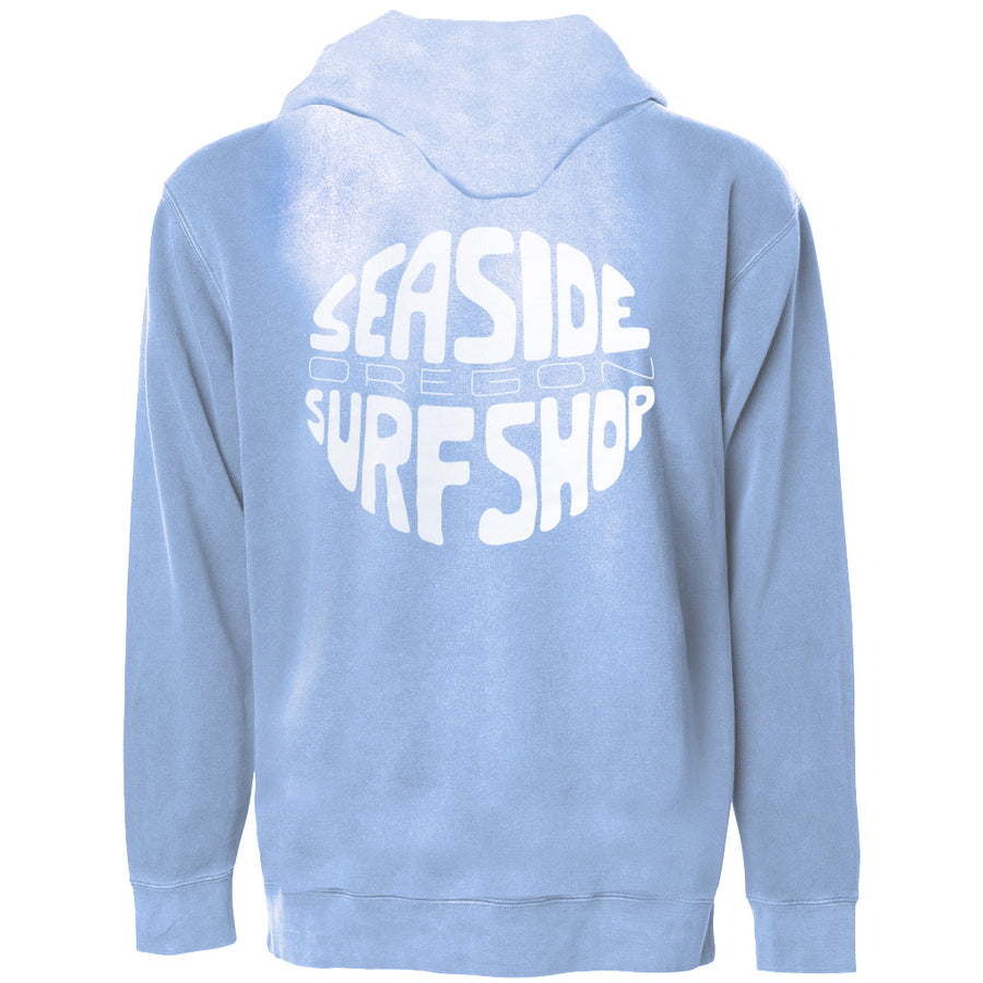 Seaside Surf Shop Unisex Gumball Zipped Hoody - Sky Heather-Seaside Surf Shop-Seaside Surf Shop