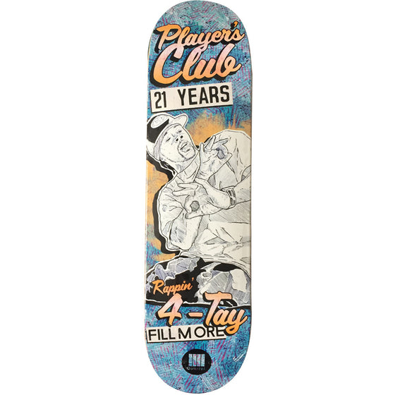 "-Skate-Quartet Skateboards Players Club Deck - 8.38""-Quartet Skateboards-Seaside Surf Shop"