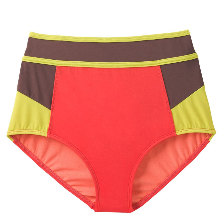 Prana Womens Adisa Bottom - Carmine Color Block, Swimwear, Prana, Womens Bikini Bottoms, THE ADISA BOTTOM OFFERS ADDED COVERAGE WITH ITS HIGH-RISE WAIST. THE FULLY LINED BOTTOM FEATURES FULL SEAT COVERAGE, A WIDE WAISTBAND, AND HIPSTER LEG CUTS.PRODUCT DETAILSHigh-waisted hipster bottomPrint/solid colorblock featureWide waistband with contrast binding detailFully linedHigh riseHipster leg cutFull seat coverageFABRIC DETAILS80% Nylon / 20% Spandex