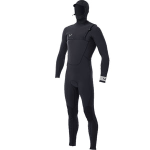 Volte Premium Mens 4x5 Zipperless Hooded Wetsuit - Black