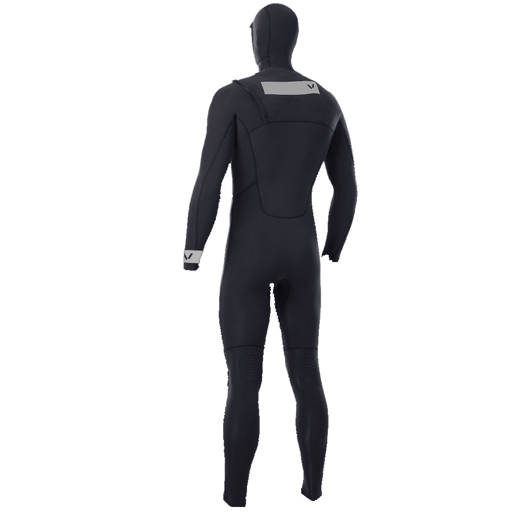 Volte Premium Mens 4.5/3.5mm Zipperless Hooded Wetsuit - Black - Seaside Surf Shop