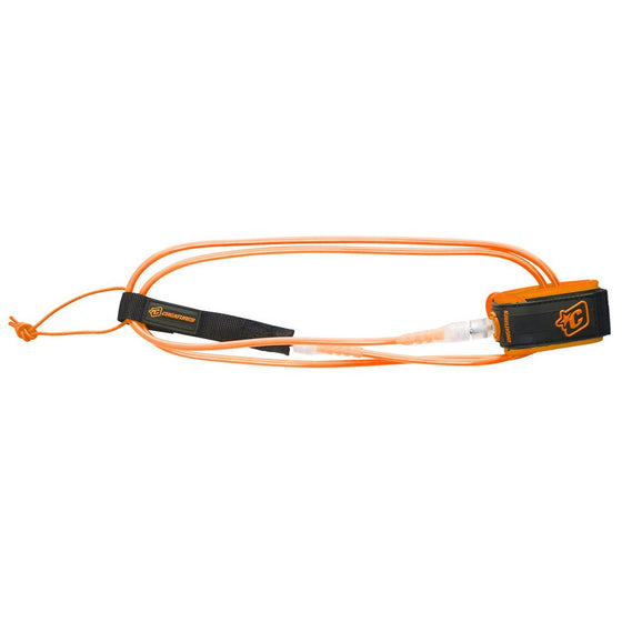 -Surf Accessories-Creatures 6' Pro Leash - Orange/Clear-Creatures of Leisure-Seaside Surf Shop