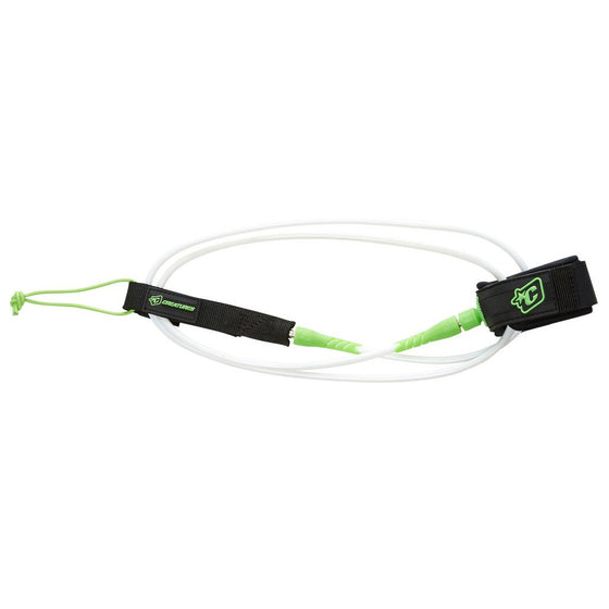 -Surf Accessories-Creatures 6' Comp Leash - White/Lime-Creatures of Leisure-Seaside Surf Shop