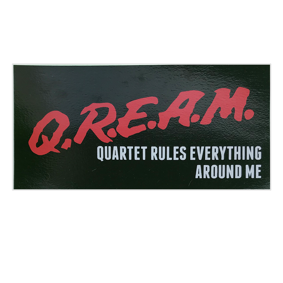 "Quartet Skateboards QREAM Sticker 6x3""-Quartet Skateboards-Seaside Surf Shop"