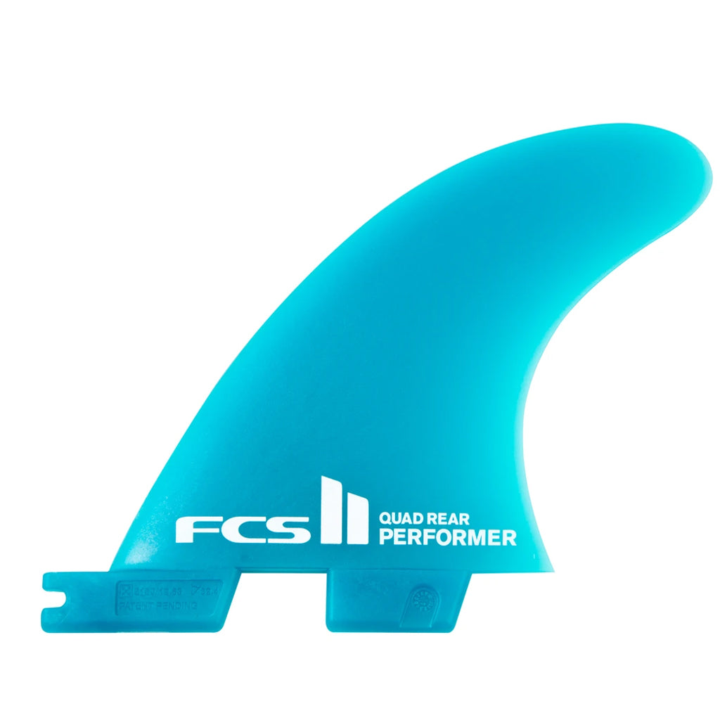 FCS II Performer GF Medium Quad Rear Neo Glass Fins - Blue - Seaside Surf Shop