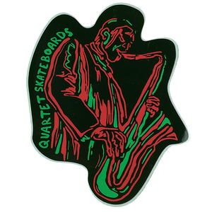 "Quartet Skateboards Soul Sticker 5x4"" - Neon"