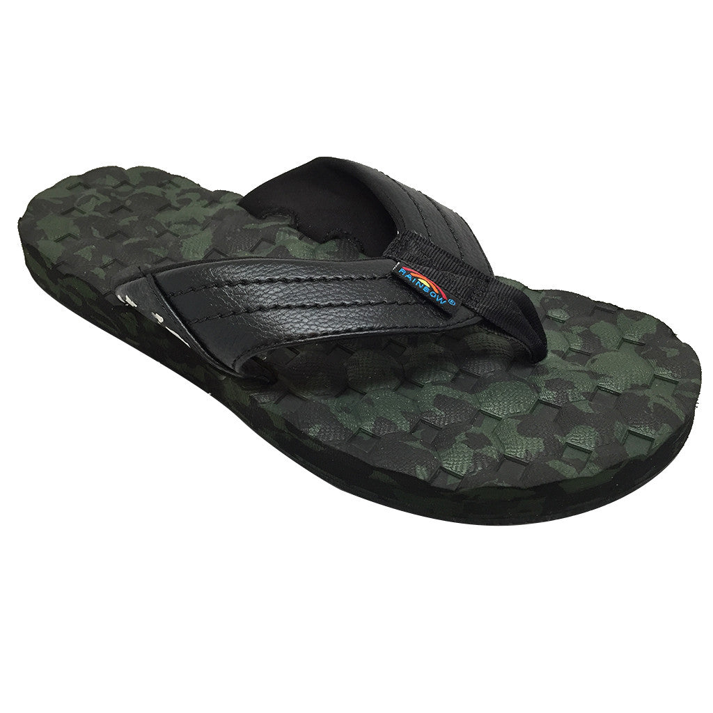 Rainbow Sandals Mens  Holoholo - Black/Green Camo - Seaside Surf Shop