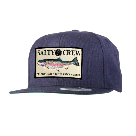 -Apparel Accessories-Salty Crew Mens Rainbow 6 Panel Hat - Navy-Salty Crew-Seaside Surf Shop