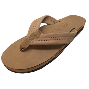 -Footwear-Rainbow Sandals Women's Premium Leather Double Layer - Sierra Brown-Rainbow Sandals-Seaside Surf Shop