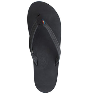 Rainbow Sandals Womens Premiere Leather - Black Single Layer