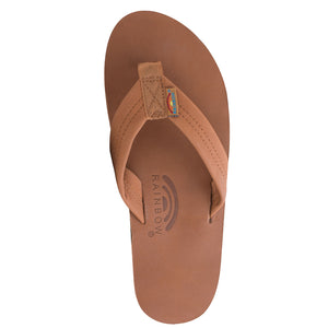 Rainbow Sandals Mens Classic Leather Double  - Tan/Brown