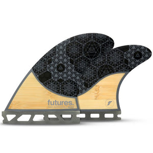 -Surf Accessories-Futures Fins - Rasta HC Medium Quad Fin Set - Bamboo Grey-Futures Fins-Seaside Surf Shop
