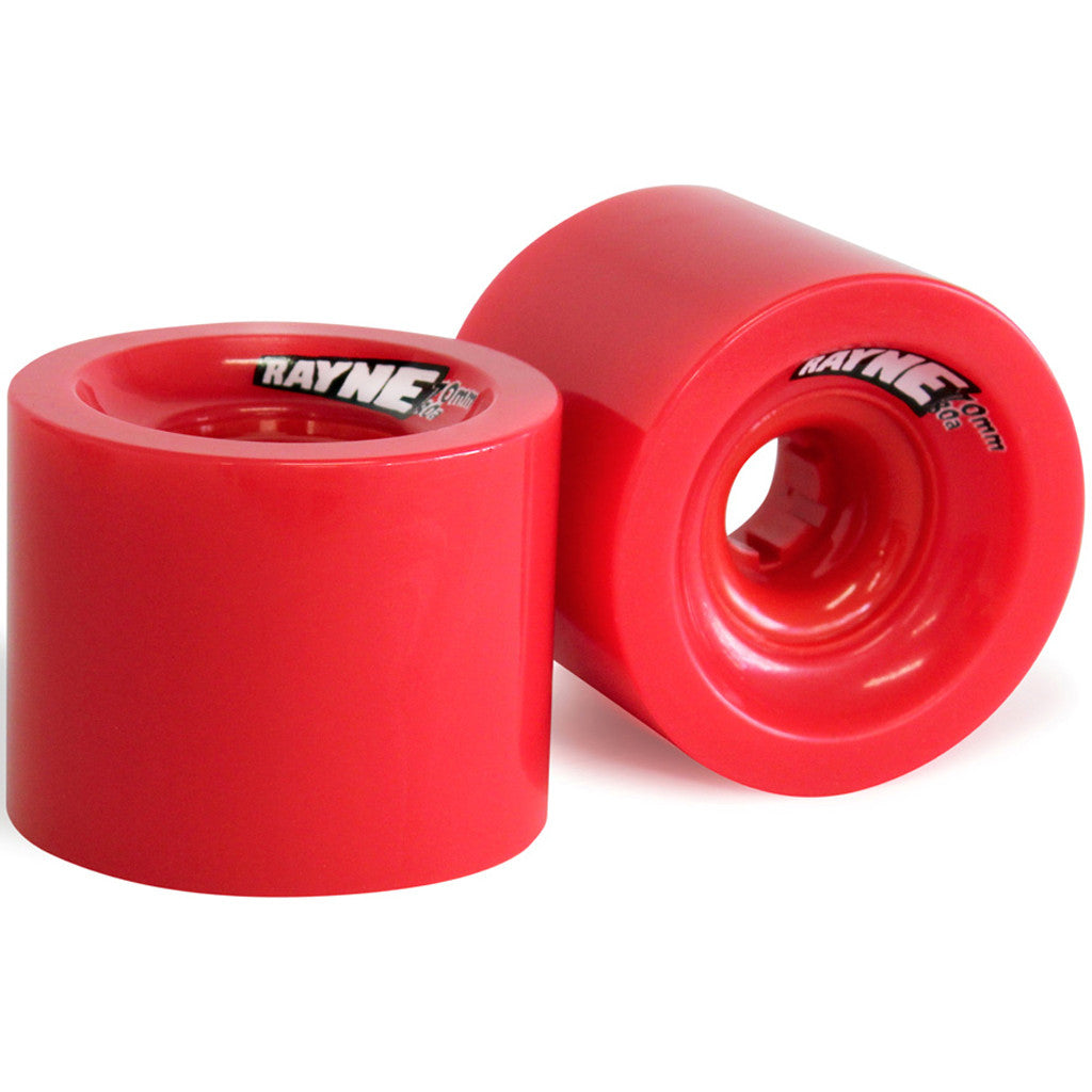-Skate-Rayne Envy 70mm Longboard Wheels – Red-Rayne-Seaside Surf Shop