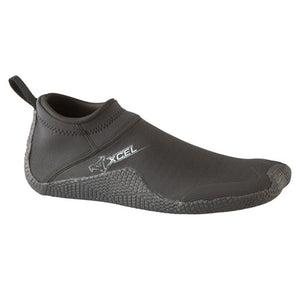 "Xcel Reef Walker 1mm Round Toe Boot - Black, Wetsuit Accessories, Xcel Wetsuits, 5mm Boots, meta-size-chart-xcel-wetsuit-size-chart, Pull-on style round toe reefwalker, with SmoothSkin ankle seal and reinforced toe and heel caps. Flexible and lite weight, with a full ""GRIPPER"" sole."