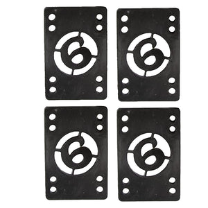 "Sector 9 Skateboard 1/8"" Shock Pad Risers (4) - Black"