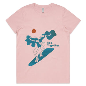 Sea Together Maple Tee - Light Rose